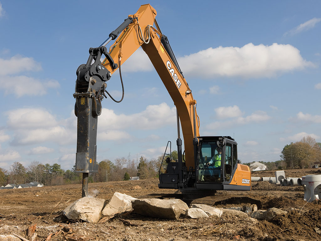 CASE excavators are a great option when your job calls for demolition.