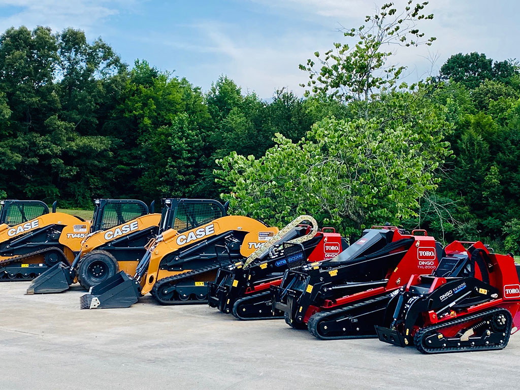 Both CASE and Toro offer superior landscape equipment
