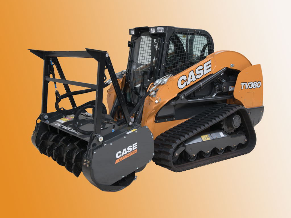 CASE's new heavy-duty mulcher attachement to tackle your toughest landscape projects.